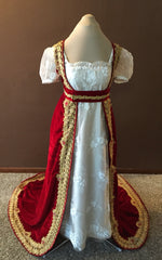 Load image into Gallery viewer, CUSTOM Regency Jane Austen Open Robe Over Dress Gown Pelisse