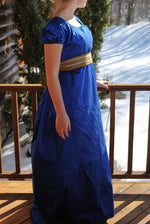 Load image into Gallery viewer, CUSTOM Silk Jane Austen Style Gown Dress with sash