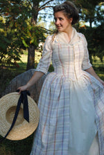 Load image into Gallery viewer, CUSTOM Colonial 18th Century Rococo Dress Gown 1700s House outfit Lace-up front