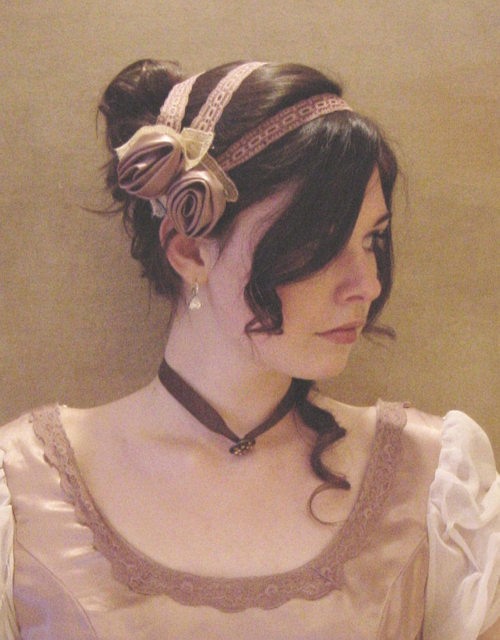 CUSTOM Regency Jane Austen 3 strap Headband hairpiece Ball hat headpiece FANCY