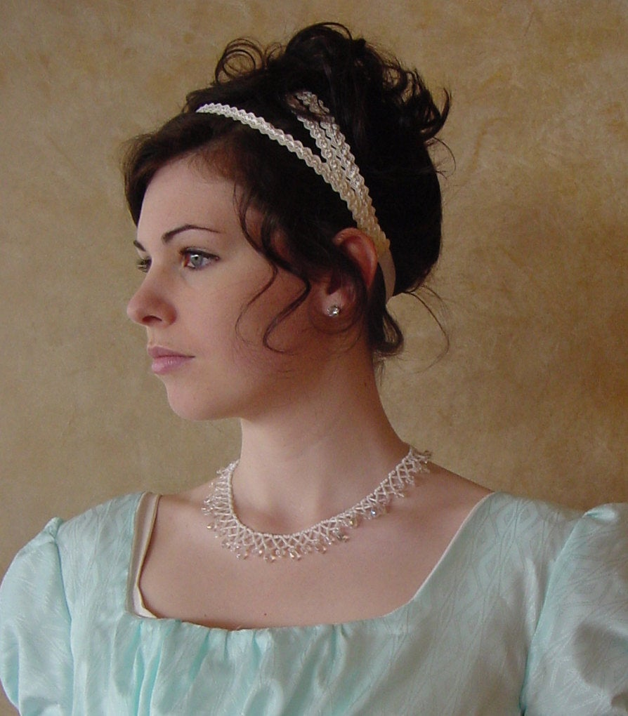 CUSTOM Regency Jane Austen 3 strap Headband hairpiece Ball hat headpiece SIMPLE