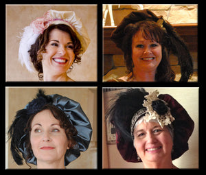 CUSTOM Regency Jane Austen Hat Muffin Cap Tam Beret Turban hairpiece Ball headpiece
