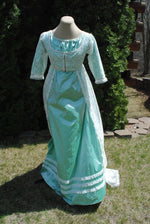 Load image into Gallery viewer, CUSTOM Evening Formal Regency Jane Austen Ball Gown Dress in your choice of colors