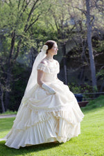 Load image into Gallery viewer, Bridal Wedding Victorian Civil War Steampunk Gown Dress includes veil