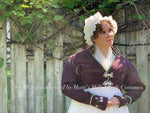 Load image into Gallery viewer, Elliot Burgundy silk embroidered spencer Regency Jane Austen Day Dress Spencer Short Jacket Pelisse