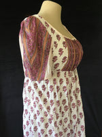 Load image into Gallery viewer, Cotton Sari Regency Day Dress in Mauve Pink