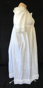 Load image into Gallery viewer, Magic White 1790s Round Gown Jane Austen Regency Day Dress in cotton