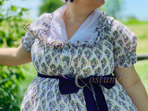 CUSTOM Regency Jane Austen Chiffon Fichu Neck Shawl Scarf