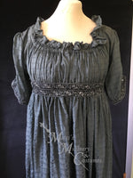 Load image into Gallery viewer, Magic Pewter 1790s Round Gown Jane Austen Regency Day Dress in cotton