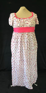 Load image into Gallery viewer, Pink Magic Block Print Cotton Jane Austen Regency Day Dress