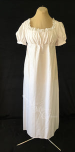 Load image into Gallery viewer, Print Cotton Jane Austen Regency Day Dress Gown
