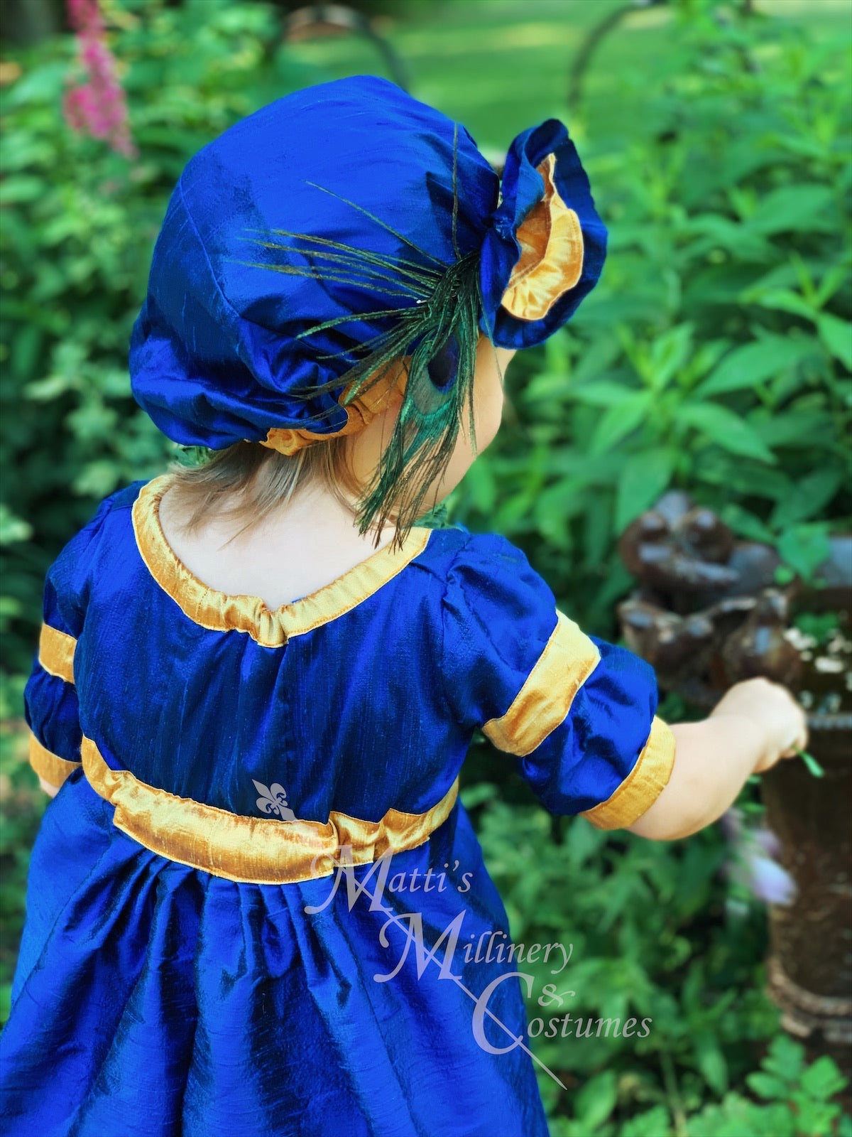 Childrens Regency Ball Gown Court Dress Outfit with dress and Tam CUSTOM size and color