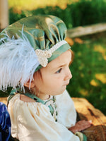 Load image into Gallery viewer, Childrens Renaissance Lil' Ren Medieval Renaissance Court Outfit with chemise, overdress and muffin cap CUSTOM size and color