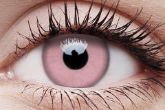 Barbie Pink Crazy Contact Lens in Eye