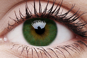 Basic Green Colour Contact Lenses Pair