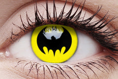 Batman Crazy Contact Lens in Eye