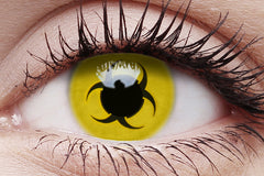Bio Hazard Crazy Contact Lens in Eye