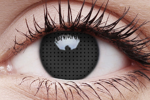 Black Screen Crazy Contact Lens in Eye