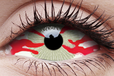 Sclera Contagion Crazy Contact Lens in Eye