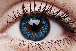 Big Eyes Cool Blue Colour Contact Lenses Pair 15mm