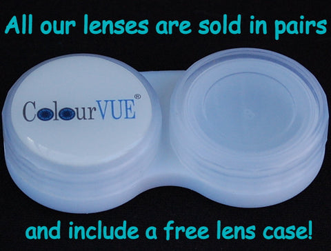 Free lens case with crazy contact lenses