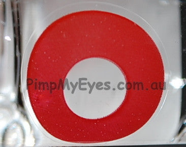 Actual product in Vial - Daredevil 17mm Crazy Contact Lenses