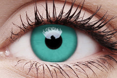 Emerald Crazy Contact Lens in Eye