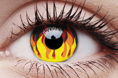 Flame Hot Crazy Contact Lens in Eye