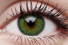 Fusion Yellow Green Colour Contact Lenses Pair