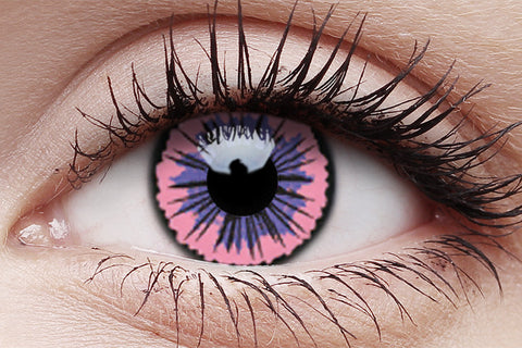 UV Glow Pink Jubilee Crazy Contact Lenses