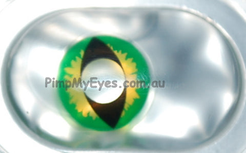 Green Dragon Crazy Contact Lenses Pair