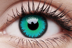 Green Werewolf Crazy Contact Lens in Eye
