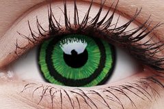 Green Goblin Crazy Contact Lens in Eye