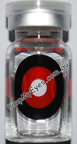 Actual product in vial - Sclera Gremlin Contact Lenses