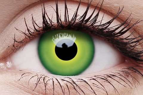 Hulk Green One Day Wear Crazy Contact Lenses Pair