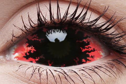 Sclera Kraken Crazy Contact Lens in Eye