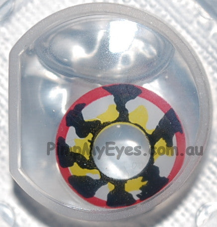 Actual product in Blister - Klaw Crazy Contact Lenses