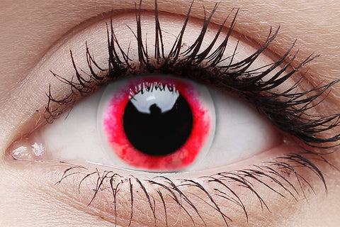 Moon Diablo Crazy Contact Lens in Eye