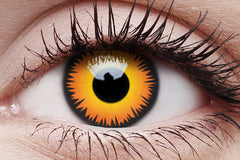 Orange Werewolf Crazy Contact Lens in Eye