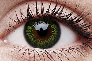 Big Eyes Party Green Colour Contact Lenses Pair 15mm
