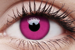Purple Crazy Contact Lens in Eye