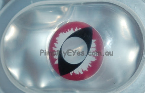 Actual product in Blister - Purple Dragon Crazy Contact Lenses