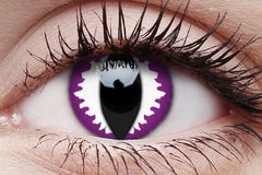 Purple Dragon Crazy Contact Lens in Eye