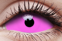 Sclera Raiden Pink Crazy Contact Lens in Eye
