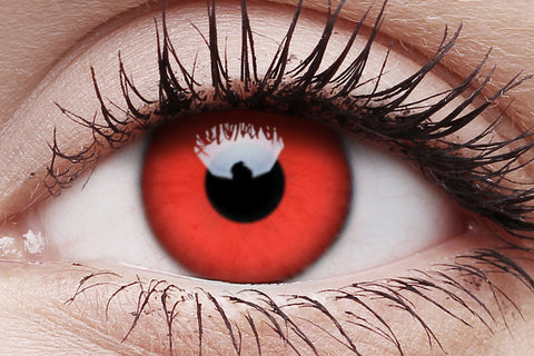 Red Devil Crazy Contact Lenses Pair