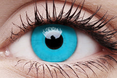 Sky Blue Crazy Contact Lens in Eye