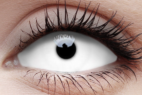 Sclera White Witch Lens in Eye