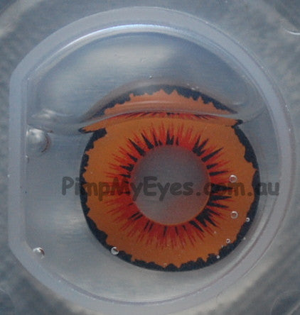 Actual product in Blister - Solarr Crazy Contact Lenses