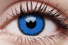 Space Blue Crazy Contact Lens in Eye