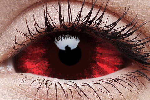 Sclera Sunpyre Crazy Contact Lens in Eye